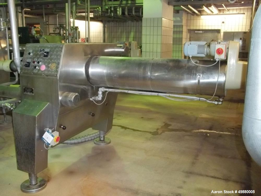 Used-Seitz filter press, type OF 100/200. 264 m2 filtration area. 350 HL/Hr. 316 stainless steel. 200 pcs of plate, 1000 mm ...