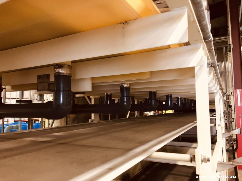 Used- 11.25 Square Meter Komline Sanderson Horizontal Vacuum Belt Filter