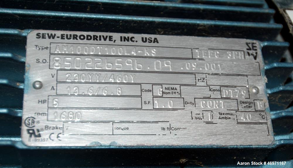 Used- Von Roll RPE Belt Filter Press, Model RPE2000L.