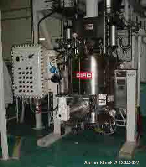 Used-Bird Nutsche .50 Square Meter Filter Dryer (now owned by Andritz Separation). 316L Sanitary stainless steel filter agit...