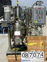 Used- Stainless Steel Jaygo Agitated Pressure Filter Dryer, Model APF-100