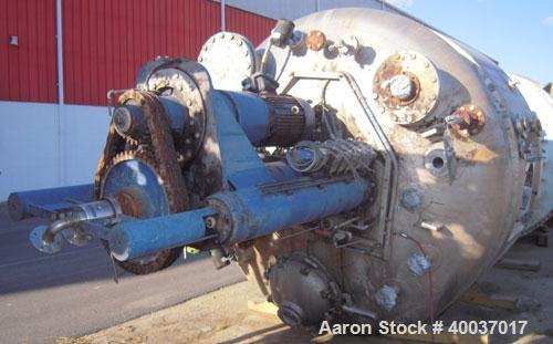 Used- Rosenmund Filter Dryer, Hastelloy C22 product contact areas. Approximately 5 square meter. 102'' diameter x 52'' strai...