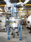 Used-Guedu ML 500 Nutsche Type Filter with agitator. Stainless steel, jacketed, 6.1 square feet (0.57 m2) and 33.5