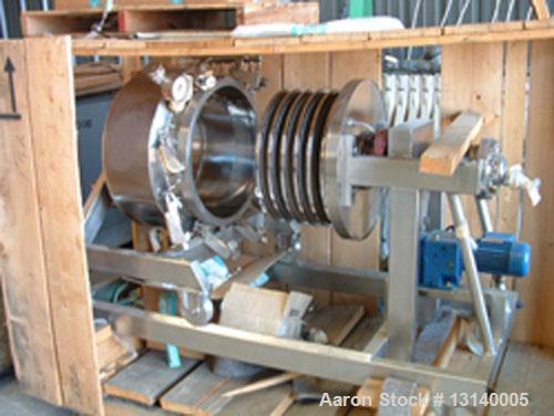 Used- Diessel GMBH Foot Rotating Leaf Jacketed Pressure Vacuum Filter