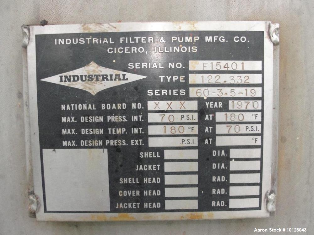 Used- Industrial Filter & Pump Vertical Leaf Filter