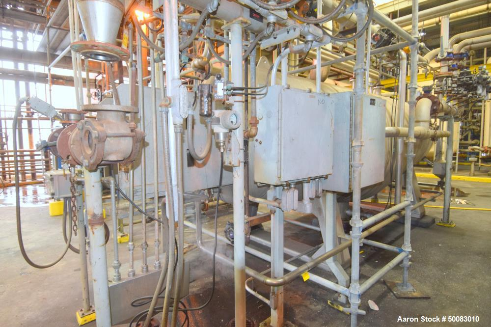 Used- AMA Filter Group LFC Lochem Roto Jet Wet Cake Discharge Filter, Approximate 990 Square Feet Filter Area, Model RJWCD 9...