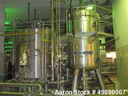 "Used-Schenk Kieselgur"" filtration system, type HF-STR60-C3 304 stainless steel on product contact parts. 500 HL capacity. Co..."