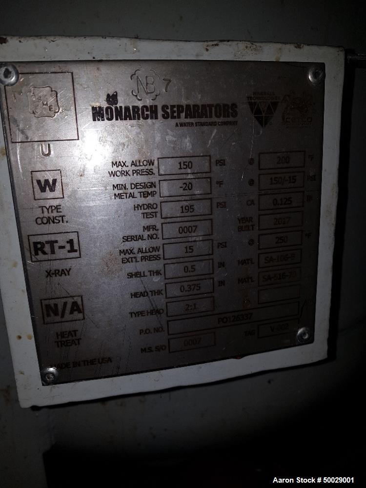 Used- Monarch Separators CETCO Hi-Flow Coalescing Media Filter