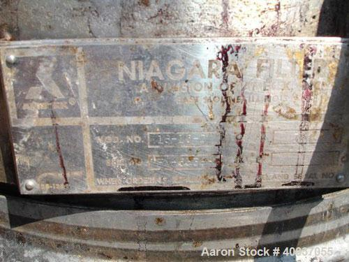 Used- Stainless Steel Niagara Pressure Leaf Filter, Model 18-16-D