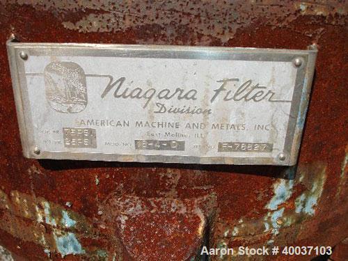 Used- Stainless Steel Niagra Pressure Leaf Filter, Model 18-4-D