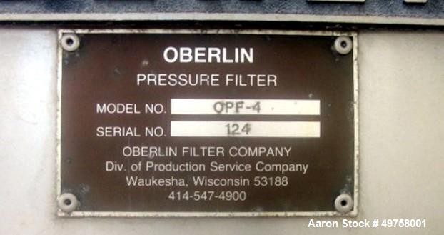 Used- Oberlin Fully Automatic Filter, Model OPF-4.