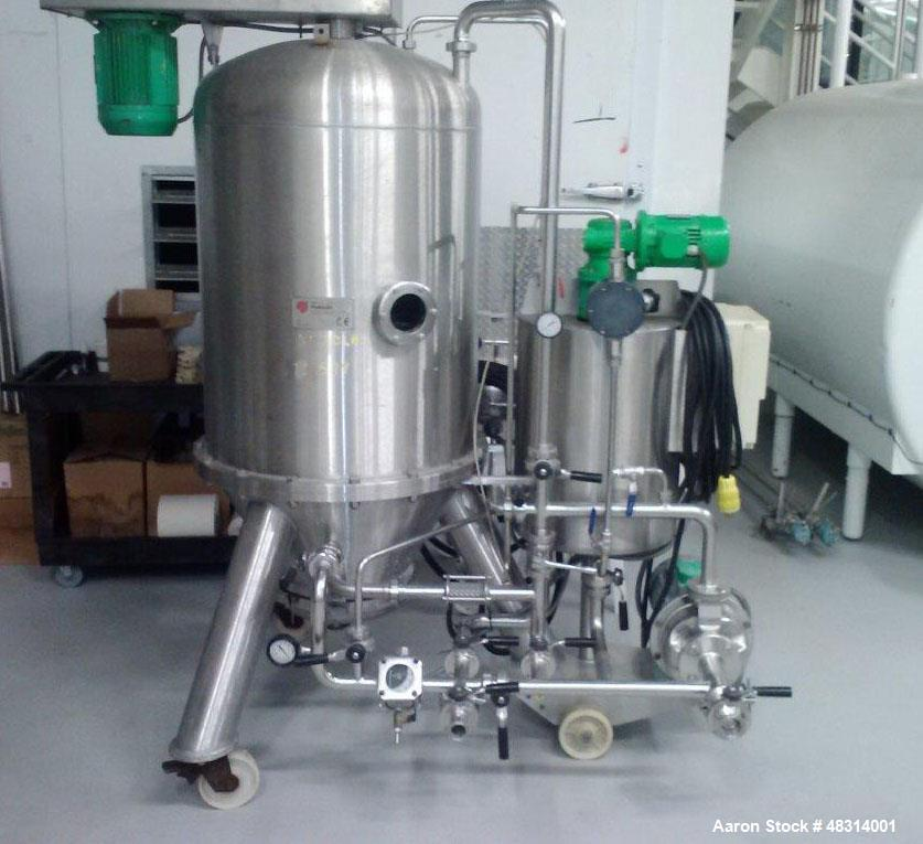Used Padovan Pressure Leaf Filter Model G9 Sanitary Stainless Steel 860 Square Meter 90 Feet Centrifugal Dry C