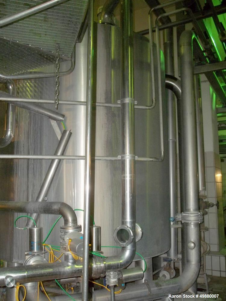 """Used-Schenk Kieselgur"""" filtration system, type HF-STR60-C3 304 stainless steel on product contact parts. 500 HL capacity. Co..."""