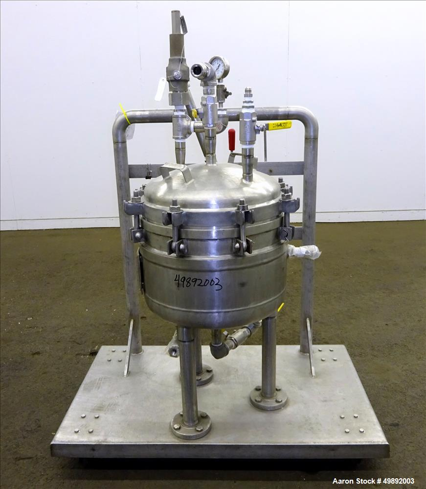 "Used- Sparkler Filter Inc. Plate Filter, Model 14"" Nutsche, 316 Stainless Steel."
