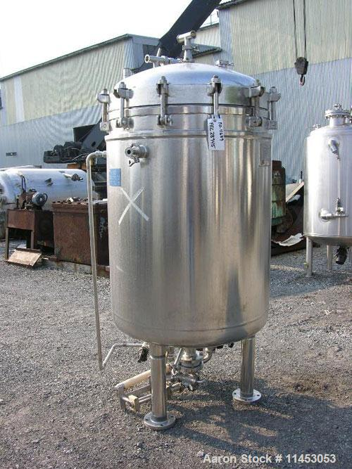 Unused-Sparkler filter, model 33D17. 316L sanitary stainless steel construction, electro-polished internal, 95.37 square fee...