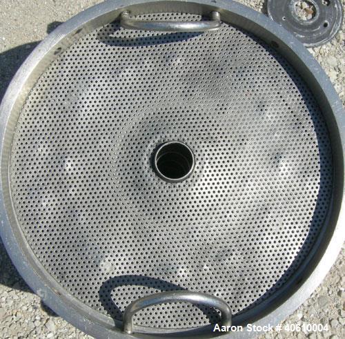 Used- Stainless Steel Sparkler Filter Horizontal Plate Filter