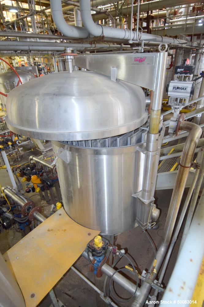 Used- Velo S.P.A. Vertical Leaf & Tank Filter, Model CFV35,
