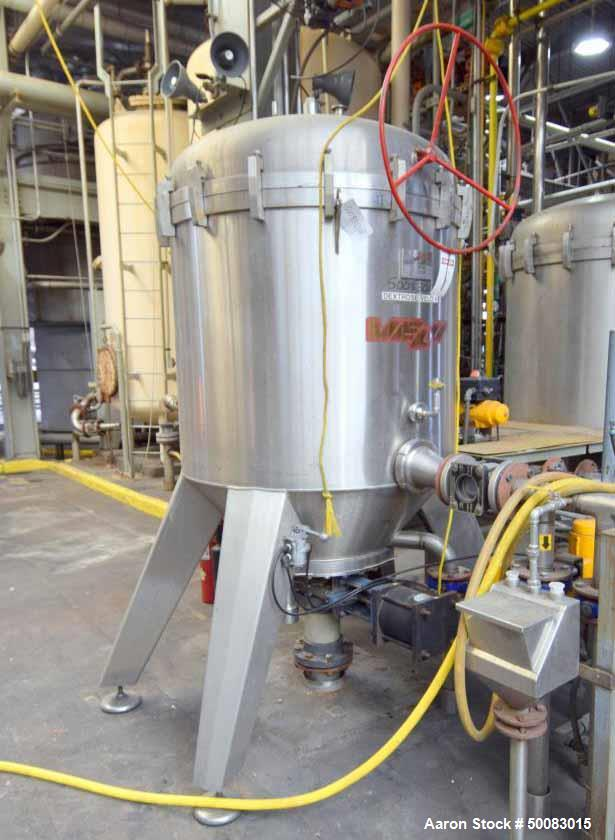 Used- Velo S.P.A. Vertical Leaf & Tank Filter, Model CFV35, Stainless Steel.