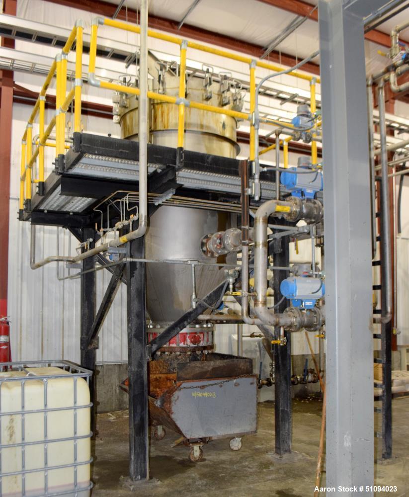 Used- Leem Filtration Vertical Leaf Filter, Model VLD-410-15, 304L Stainless Steel. Maximum filtration area 410 square feet,...