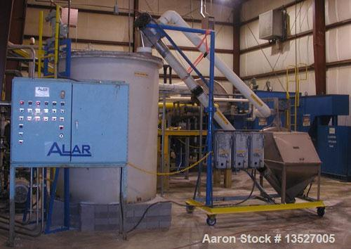 Unused-Used: Alar Auto-Vac Rotary Vacuum Drum Filter System.  Model 6120. The dewatering system consists of a precoat slurry...