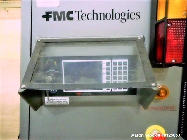 Used- FMC Technologies SGV Battery Electric Driverless Forklift. Model Fork Over Type SGV2000. 1600 kg Capacity. No Charger.