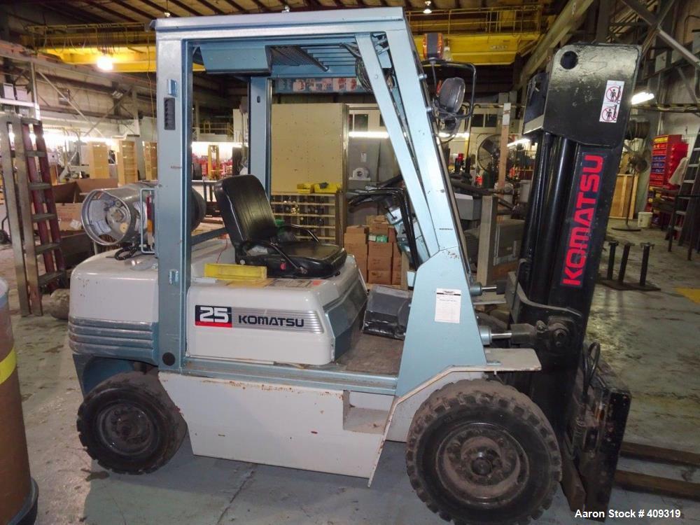 Used-KOMATSU Forklift Model FG25TUS11 (8471 Hours) Has a Bad Radiator