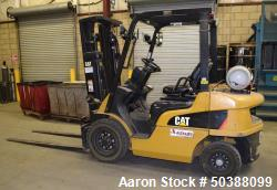 Used- Caterpillar Propane Forklift, Model P50001. Approximate 5000 pound capacity. Serial# AT3510407.