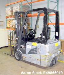 Used-Nissan 3-Wheel Electric Forklift, Model 1N1L18V.  2900 lb. Capacity.  Serial # 1N1-720858.