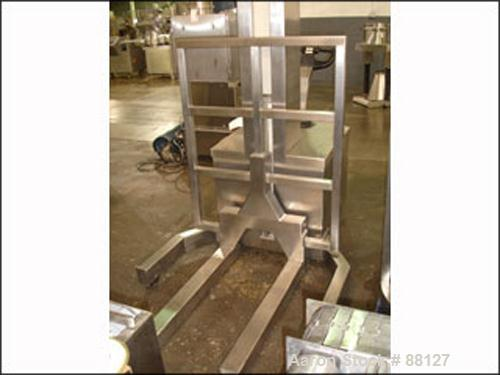 Used- Stainless Steel Meto-Lift Walk Behind Forklift, Model PMFLOZ