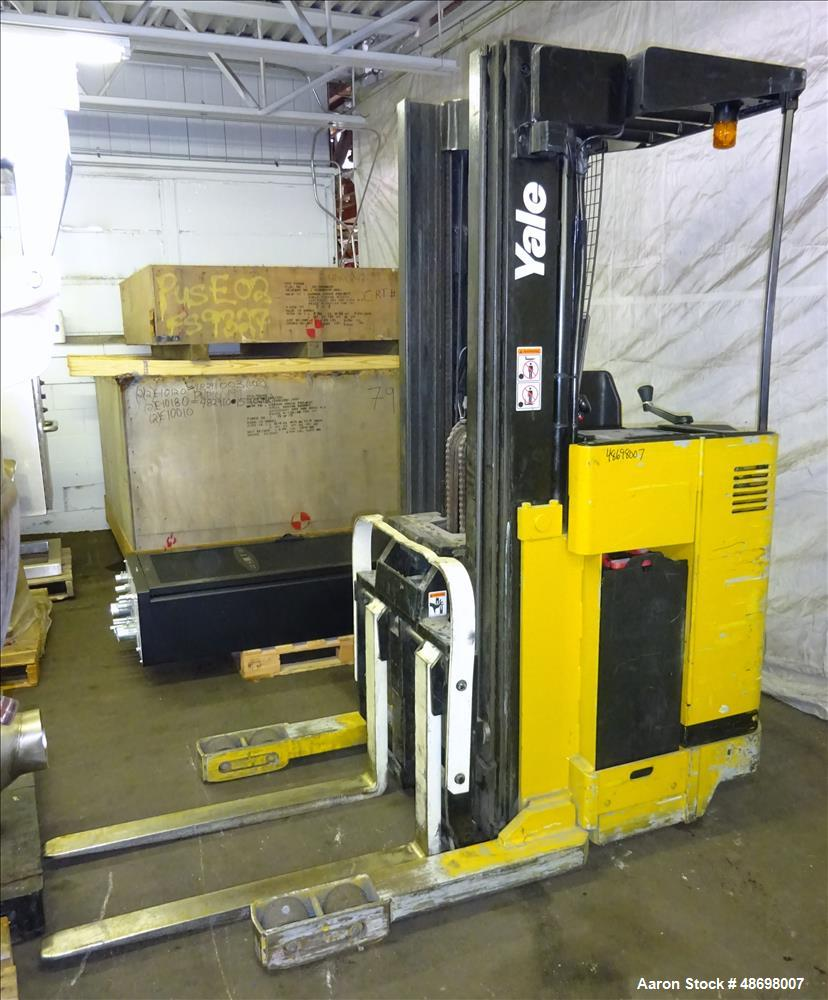 Used- Yale Stand-Up Forklift, Model NR040ADNS24TE