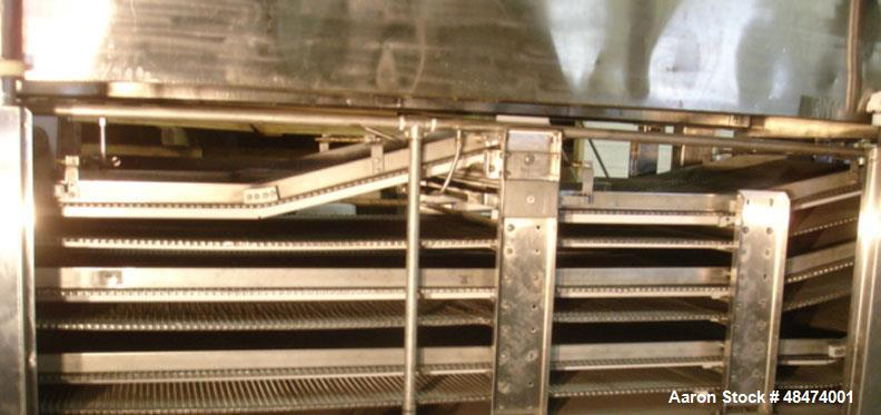 Used- Top Lifting 3-Pass Combo IQF Tunnel