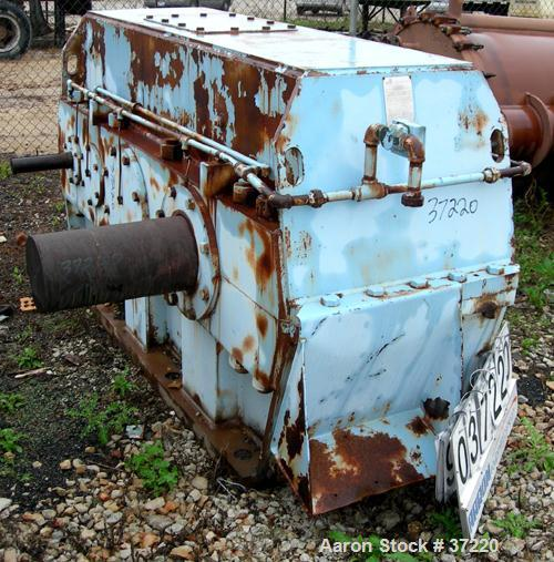 USED: Foote Jones Model 2403hld parallel shaft gear reducer. 300 hp 1170 input rpm, 37.38 output rpm, 31.3:1 ratio. 2.09 ser...