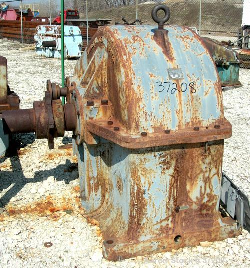 USED: Philadelphia parallel shaft gear reducer, model 3227, type T. HP rating 405-225.1. 1750/870 rpm input, 56.09/28.045 rp...