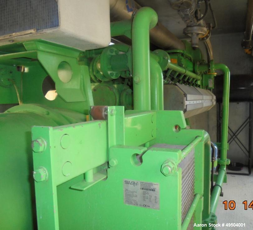 Used- 800 KW / 1000 HP Natural Gas 12 Cylinder Engine with Generator.