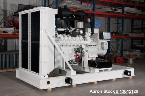 New Blue Star Power Systems 425 kW standby natural gas generator set, SN-5204. NGE model D219LT HO natural gas engine EPA ce...