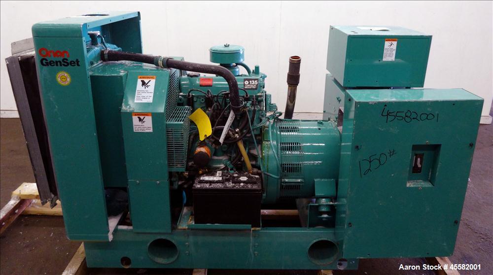 Used- Cummins Onan 35 kW standby natural gas gene