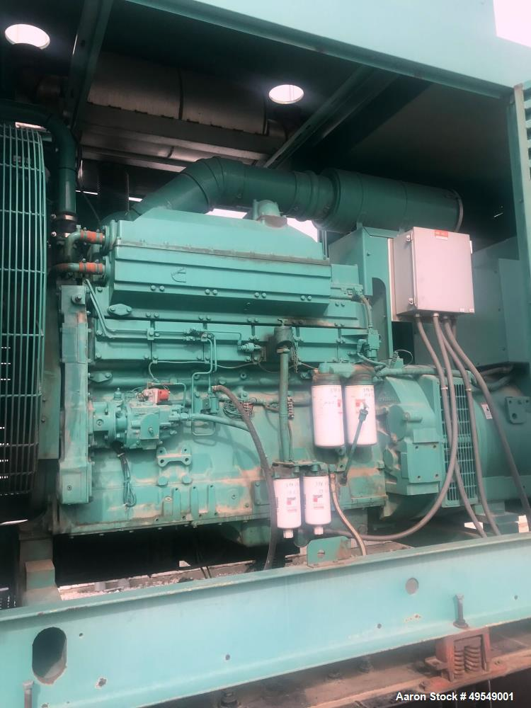 Used- Cummins 500 kW Standby Diesel Generator Set, Model 500DFFB