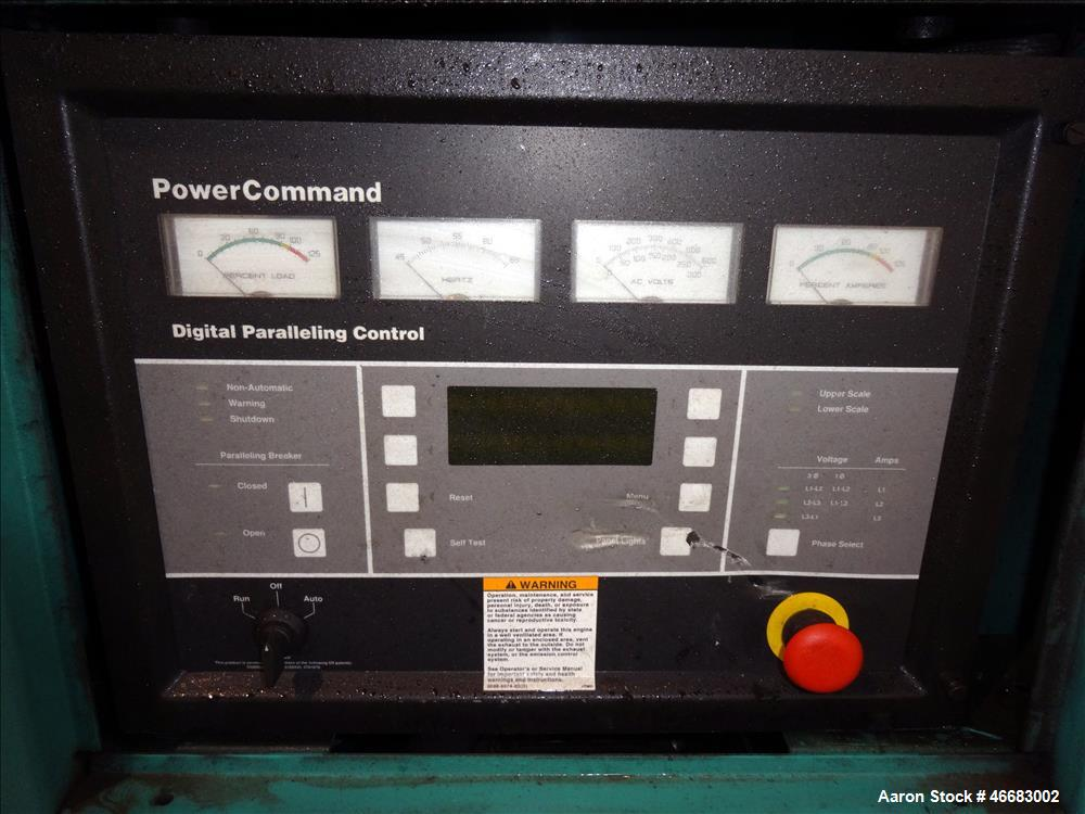 Used- Cummins 230 kW Diesel Generator. Cummins LTA10-G1 Engine