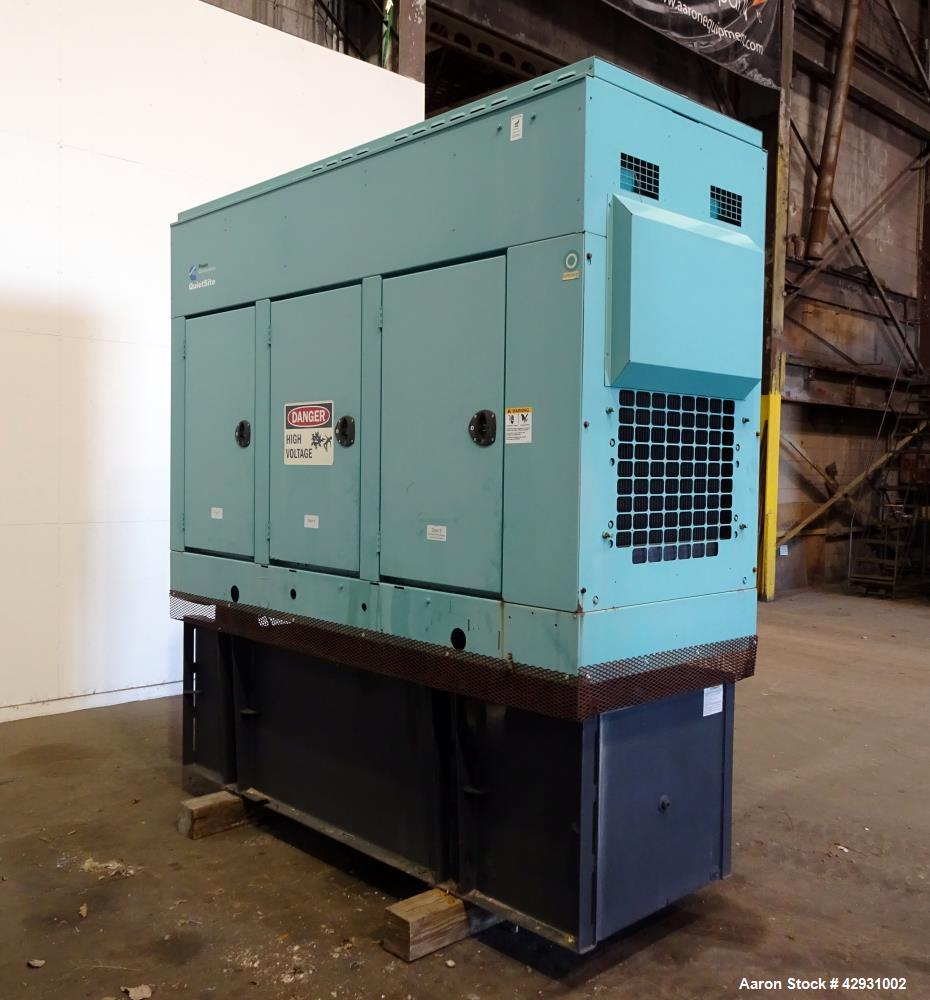 Used- Cummins 80 Kw Diesel Generator Set, Model DGDA-5757336 SN-D060907909. Cummins model 6BT5.9-G6 engine rated 170HP at 18...
