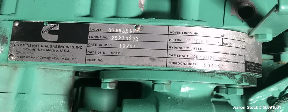 Used- Cummins 215 kW Natural Gas Generator.