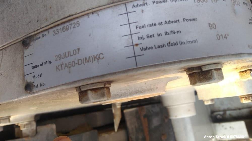 Used- Cummins 1200/1500 kW Standby Diesel Generator Set