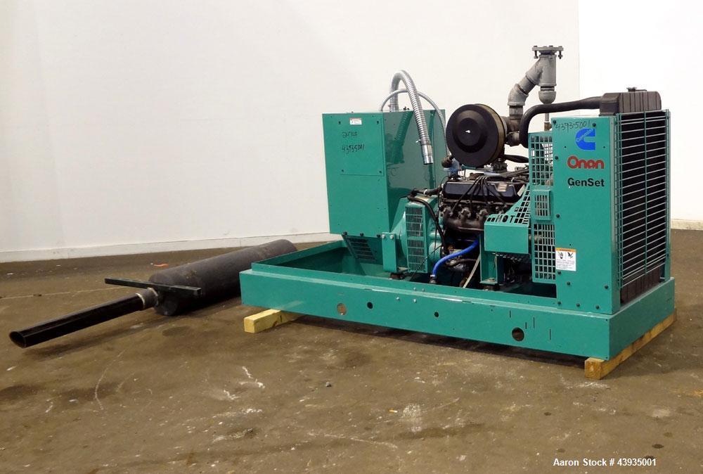 60 Amp Breaker >> Used- Cummins / Onan 80 kW Standby Natural Gas Ge