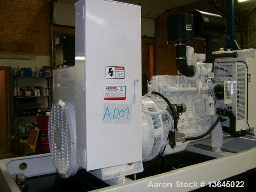 Unused-New-Cummins Powered 160 kW Standby Diesel Generator Set. Cummins QSB7-G3 EPA tier 3 engine rated 250 HP @ 1800 RPM. M...