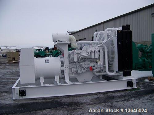 New-Cummins powered 1350 kW standby diesel generator set. Cummins QSK50-G3 EPA tier 2 engine rated 2090 HP @ 1800 RPM. Marat...