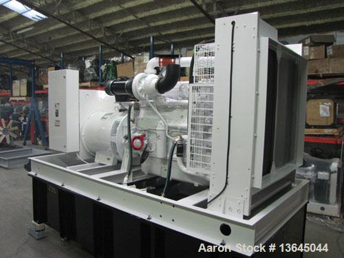 Unused-New 500 kW Cummins powered standby diesel generator set. Cummins QSX15-G9, SN-79344657 EPA tier 2 engine rated 755 hp...
