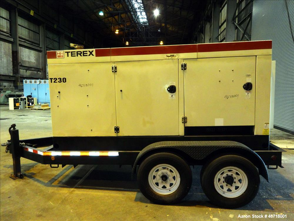 Used- Terex / John Deere 184 kW Portable Trailered Diesel Generator, Model OT23