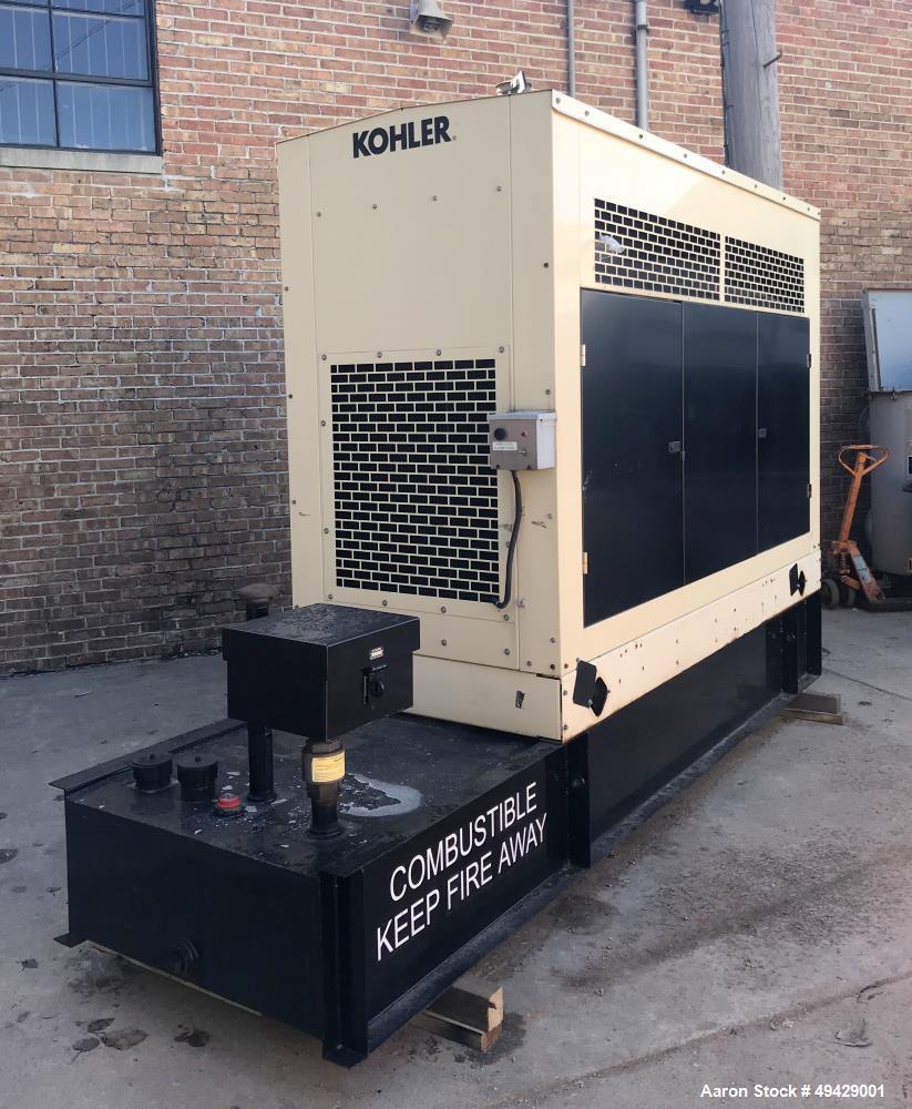 Used- Kohler 110 KW Standby Diesel Generator, Model 100RE0ZJB