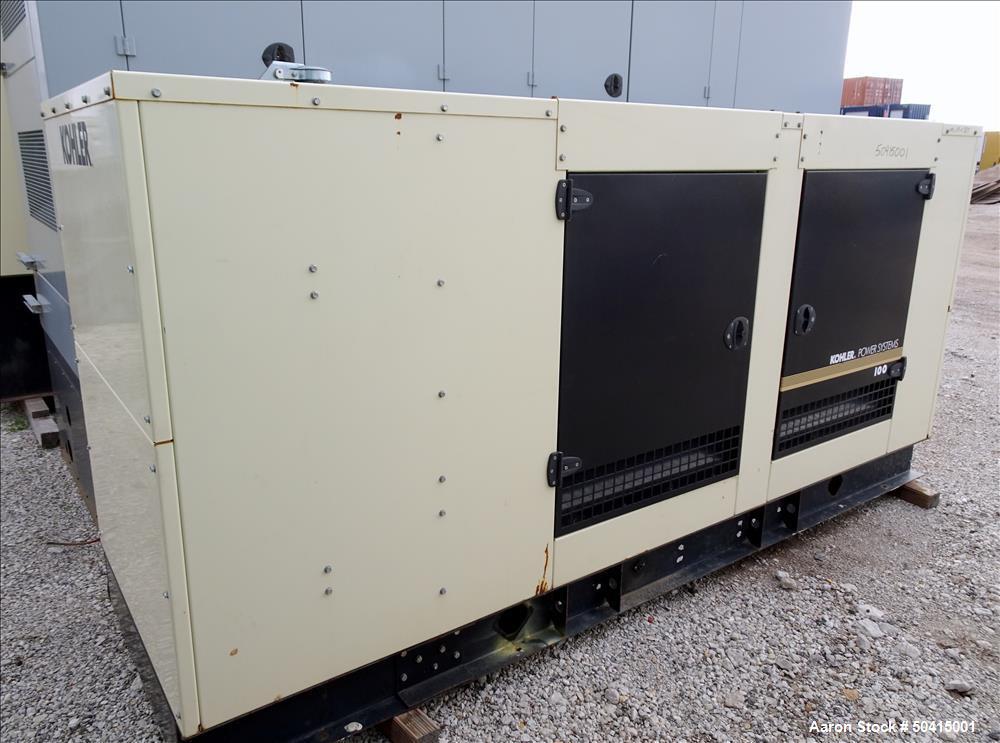 Used- Kohler Model 100REZG, 100 kW Natural Gas Standby Generator Set.