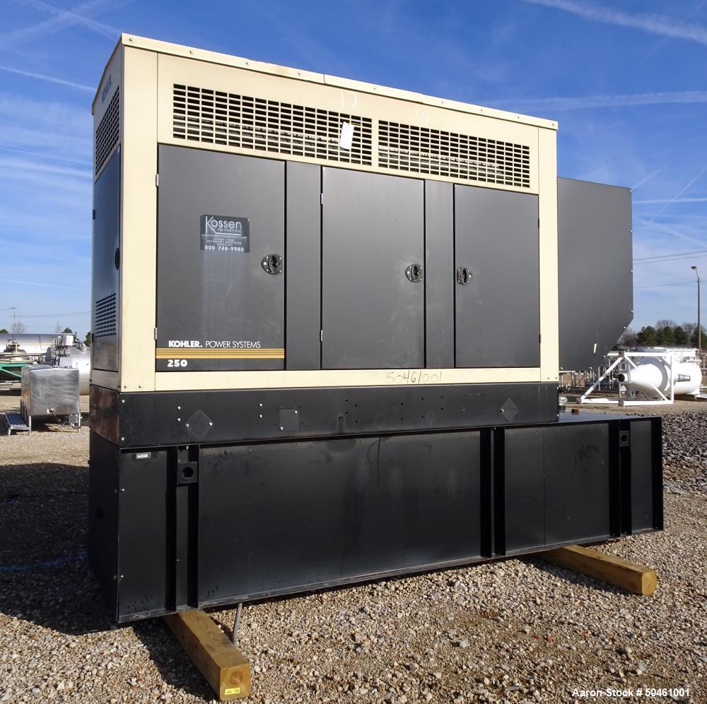 Used- Kohler 255 kW Standby Diesel Generator Set, Model 250REOZJD, SN-2288894.