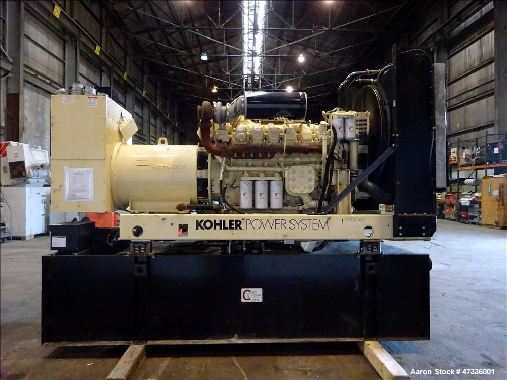 Used- Kohler 610 kW Diesel Generator Set, Detroit Diesel / MTU 12V2000-G70